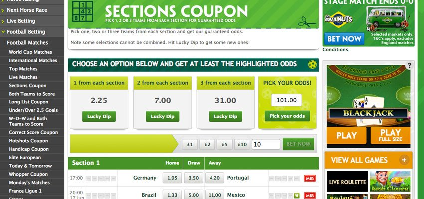 Acca Coupon From Paddy Power