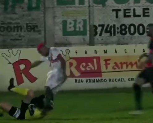 Player Kicks Referee