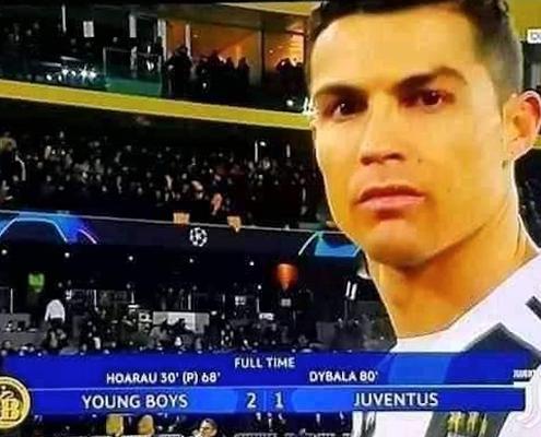 Young Boys Ronaldo Defeat